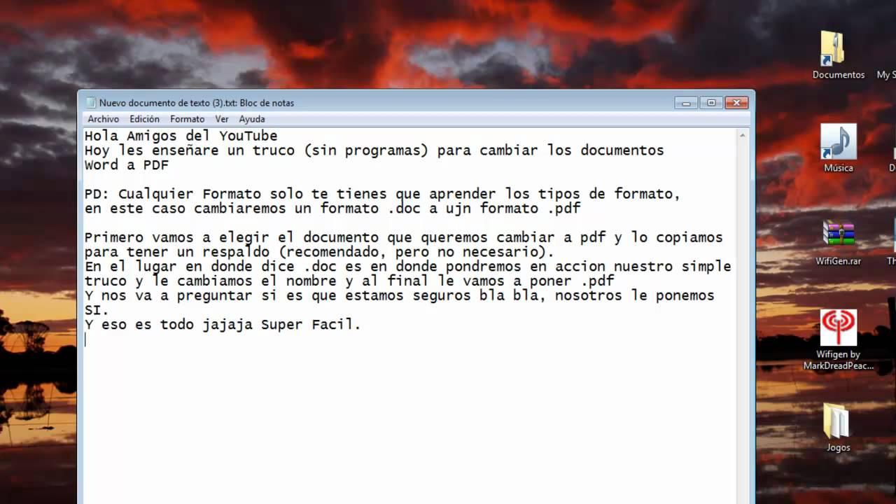 Transformar de Word a PDF- Fácil y Sin Programas - YouTube
