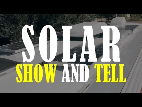 Our Solar Show And Tell  in our Airstream/RV