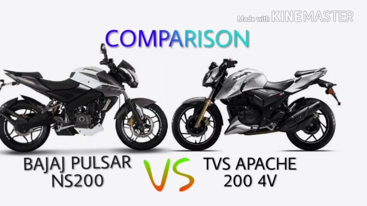 bajaj pulsar ns200 vs apache rtr 200 4v comparison review