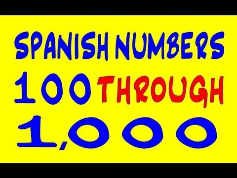 how to say 100 in spanish