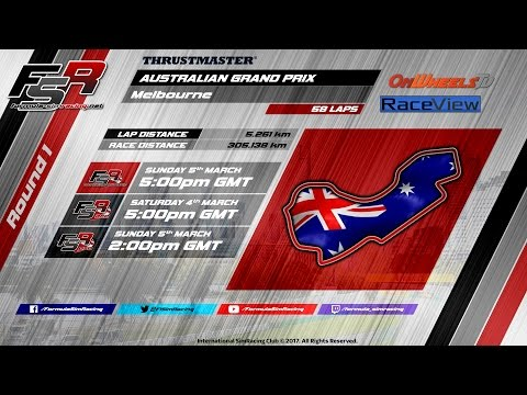 FSR 2017 Broadcasts - Thrustmaster World Championship Round 1: Australian Grand Prix