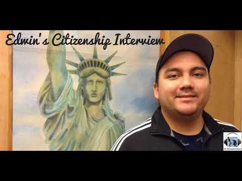 Edwin Cornejo's Citizenship Interview