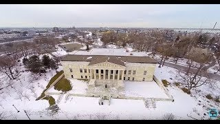 Winter In Delaware Park - Buffalo, Ny Aerial Tours