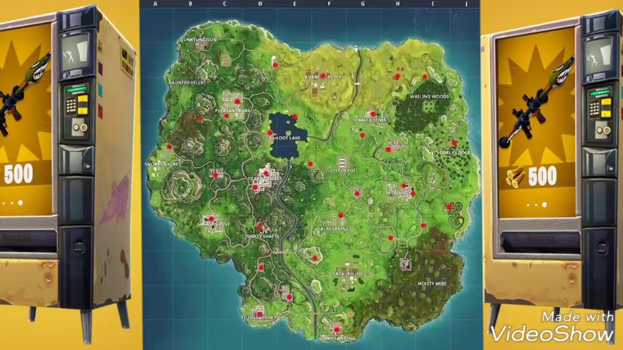 Fortnite Automaten Karte