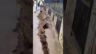 Glissement de terrain à Congomah cet après-midi