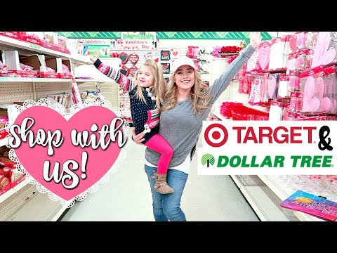 DOLLAR TREE SHOP WITH ME & TARGET DOLLAR SPOT SHOP WITH ME | Valentines 2018