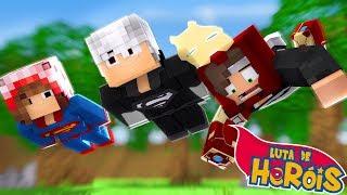 Minecraft: OS MELHORES HERÓIS - Luta de Heróis ‹ Ine ›