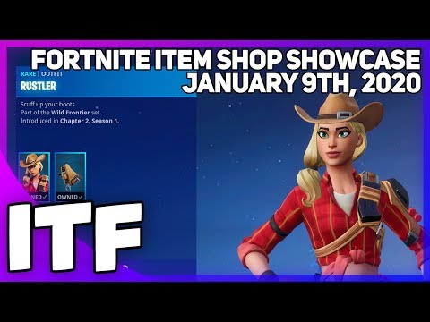 Fortnite Item Shop *NEW* RUSTLER SKIN SET! [January 9th, 2020] (Fortnite Battle Royale)