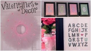 Diy Valentine's Day Decor ♥ Room Decorations, Wall Art, & Tulle Wreath.