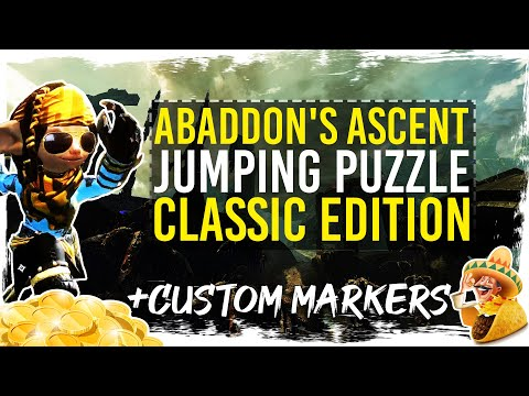 Guild Wars 2 - Abaddon's Ascent Jumping Puzzle + Custom TacO Route / 1080p 50fps