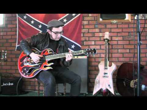 Adrian Whyte Pickin the Blues on the Ali Kat Vintage Flame guitar