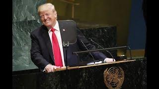 Trump wordt uitgelachen tijdens speech bij de VN