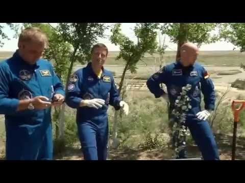 ISS Expedition Crews 40 and 41 Practice for Space Launch Outside Moscow Russia