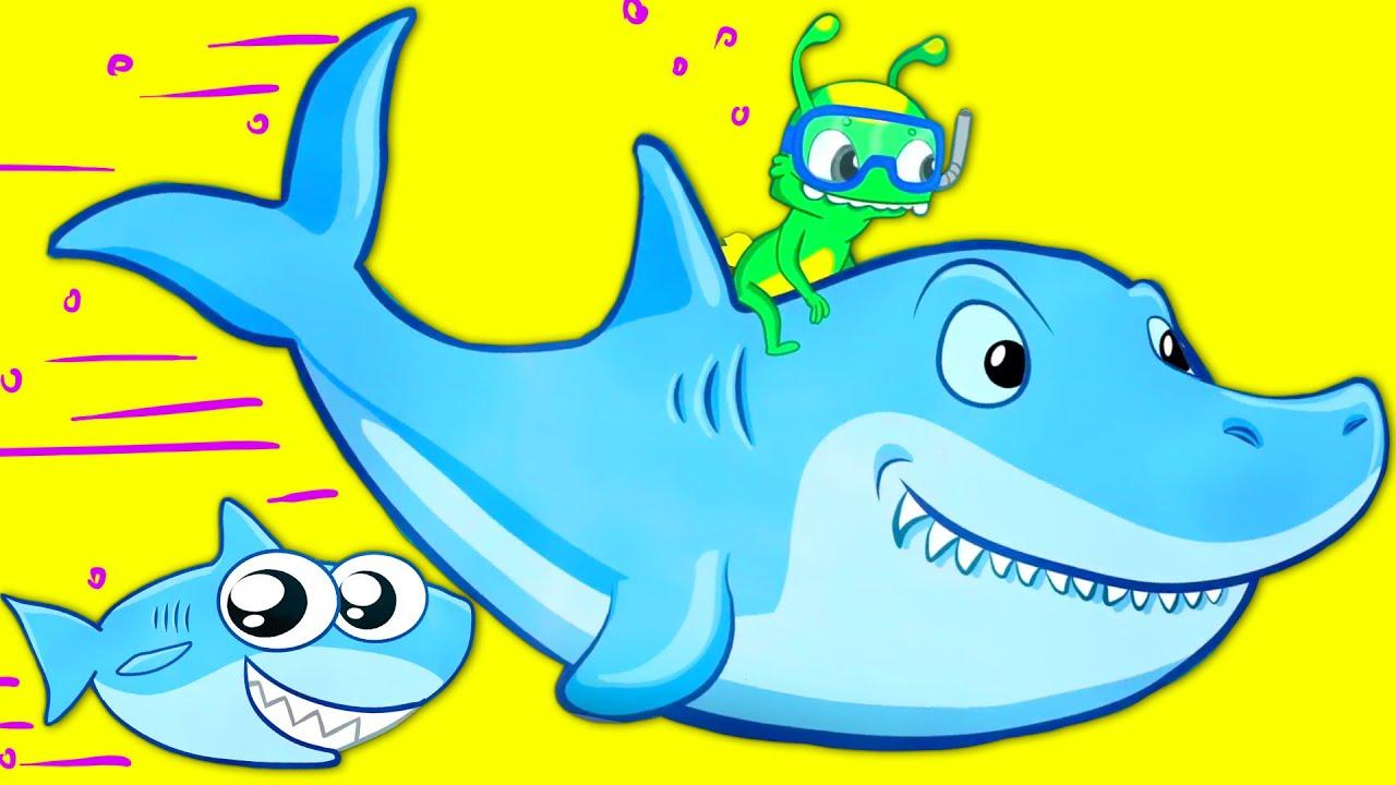 "🐬""Groovy The Martian sings Baby shark song   Nursery Rhymes for kids"" 🐬"
