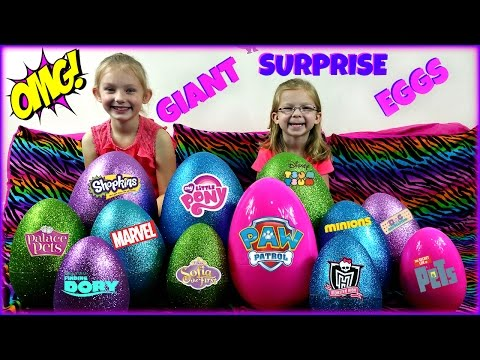 Thumbnail: BIGGEST SURPRISE EGGS OPENING! - Surprise Toys My Little Pony Paw Patrol Sofia the First Trolls