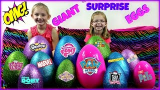 BIGGEST SURPRISE EGGS OPENING! - Surprise Toys My Little Pony Paw Patrol Sofia the First Trolls