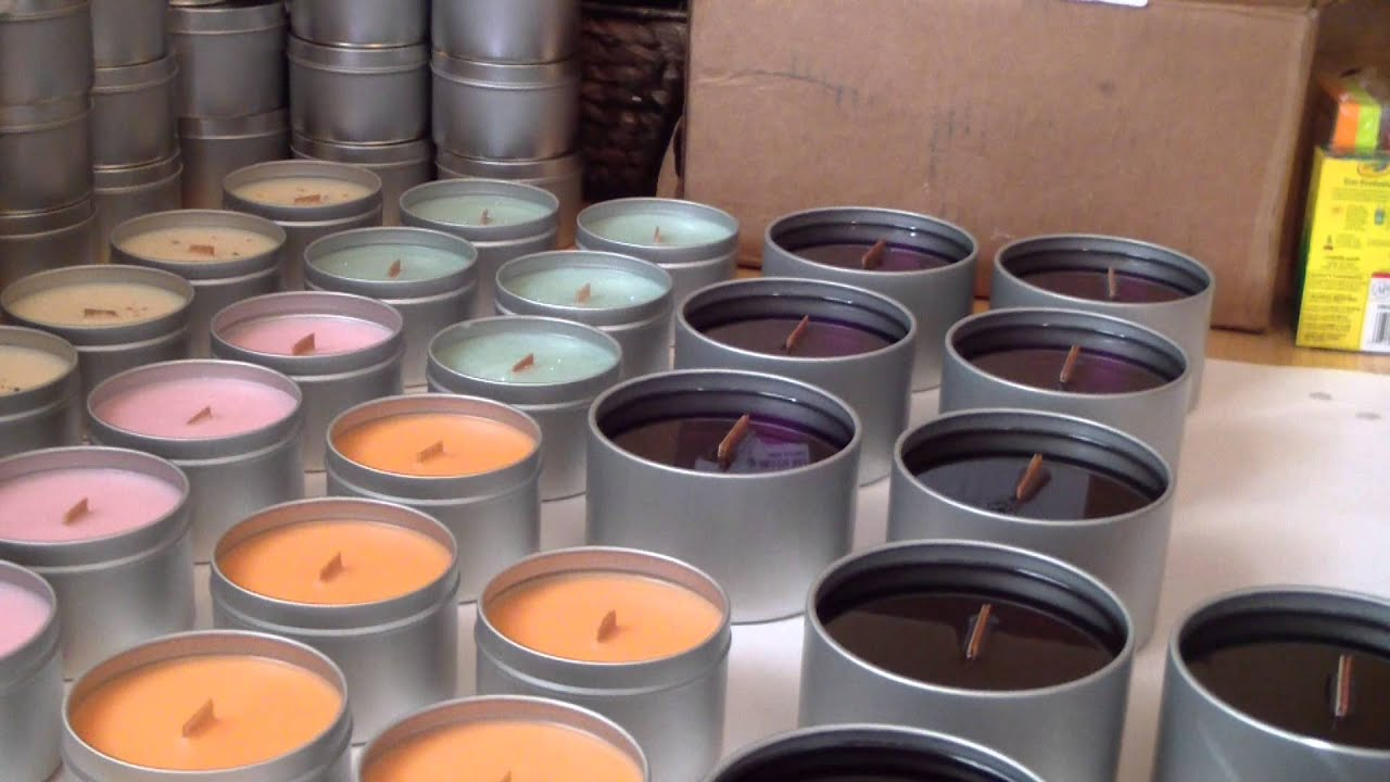 Making candles! Wooden Wick Soy Candles. - YouTube