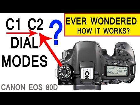 Canon 80D C1 C2 Modes Customising settings