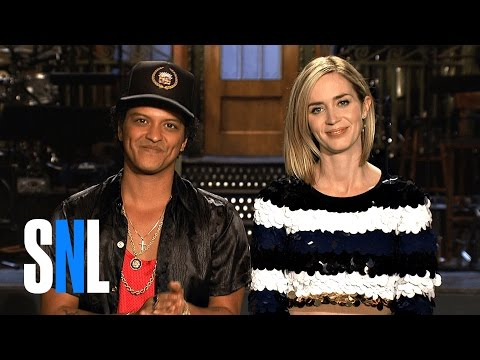 You Better Believe Emily Blunt is Hosting SNL with Music From Bruno Mars