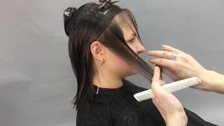 Пошаговое выполнение стрижки на средние волосы, преподаватель школы ШТЭРН Павел Гуров, Екатеринбург