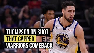 Thompson on his game changing shot against the Kings