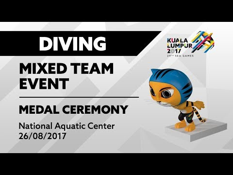 KL2017 29th SEA Games | Diving - Mixed Team Event 🏅 MEDAL CEREMONY 🏅 | 26/08/2017