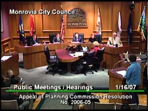 January 16, 2007 | Monrovia, CA | City Council Meeting | Pt2
