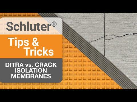 DITRA Vs. Crack Isolation Membranes