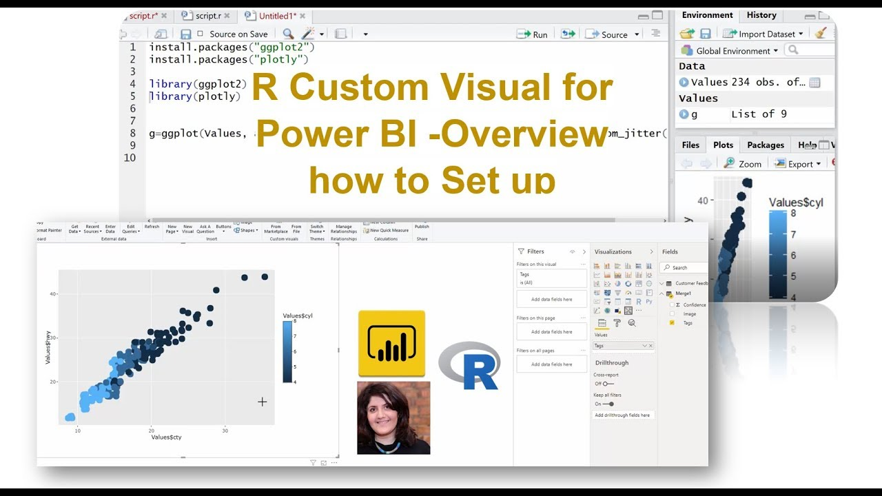 R Custom Visual for Power BI -Overview how to Set up
