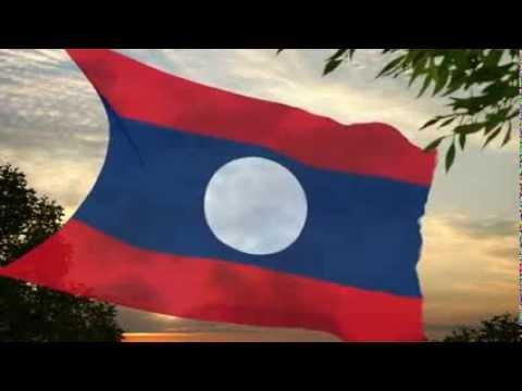 Laos People's Democratic Republic Flag & National Anthem