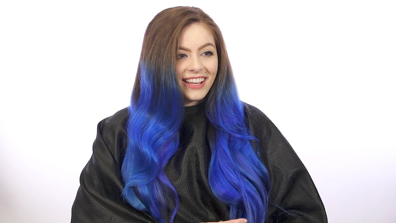 blue hair ombr233 with manic panic step by step tutorial