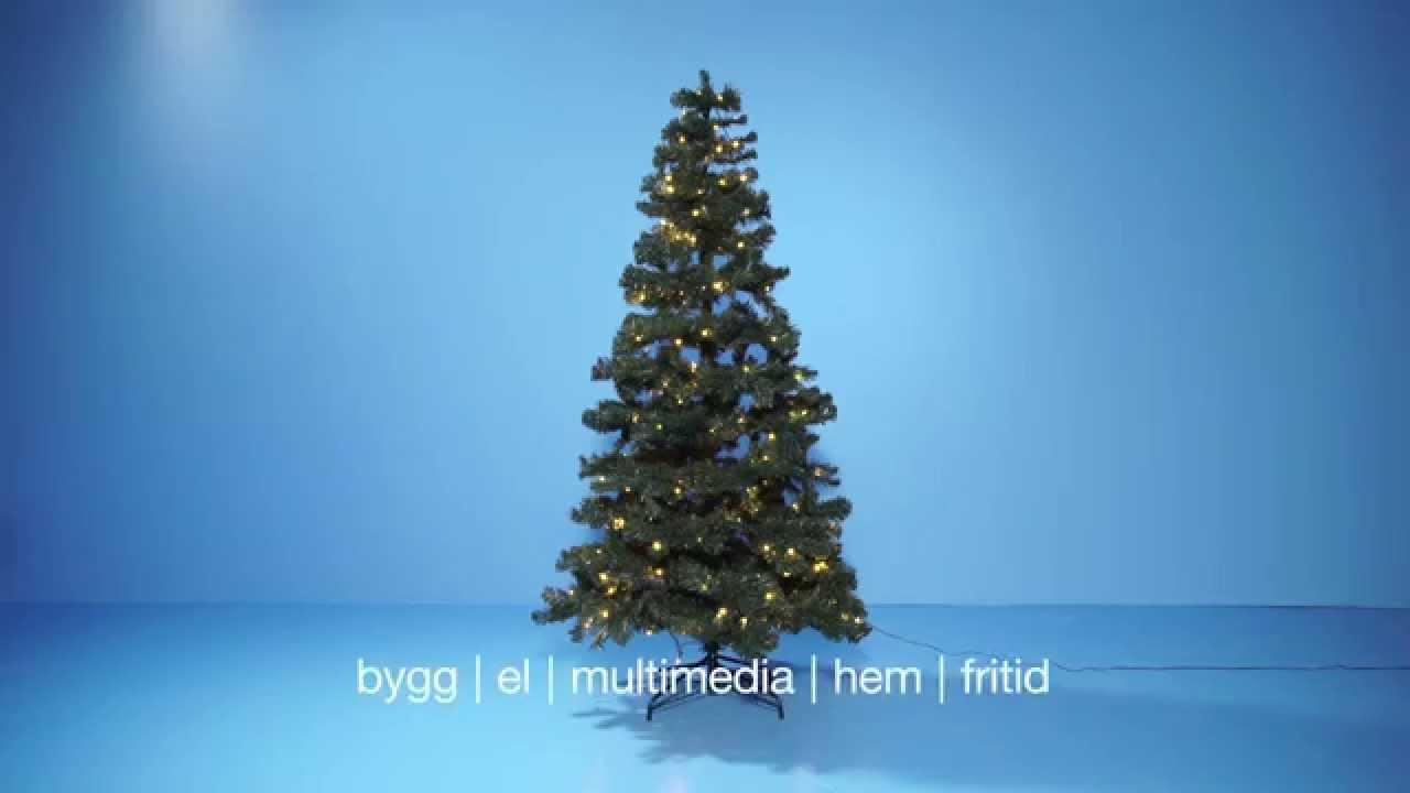 Julgran med inbyggd belysning Kan användas både inom och utomhus YouTube