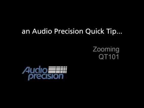 Audio Precision - QT101 - Zooming