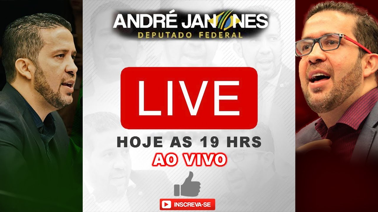 LIVE AO VIVO ANDR U00c9 JANONES HOJE AS 19HRS YouTube