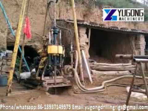 Yugong 130m-200m depth core drilling rig working video/86-13937149575