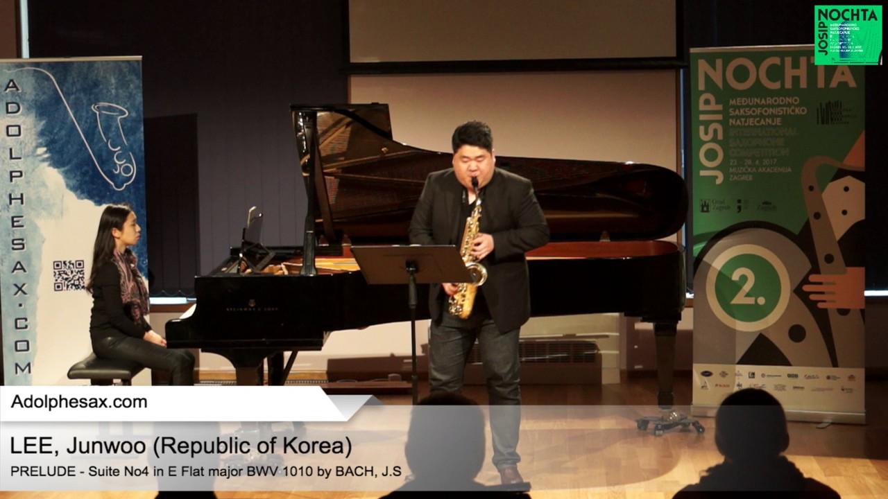 Johann Sebastian Bach – Suite No 4 in E  at major BWV 1010 – Pre?lude – LEE, Junwoo (Korea)