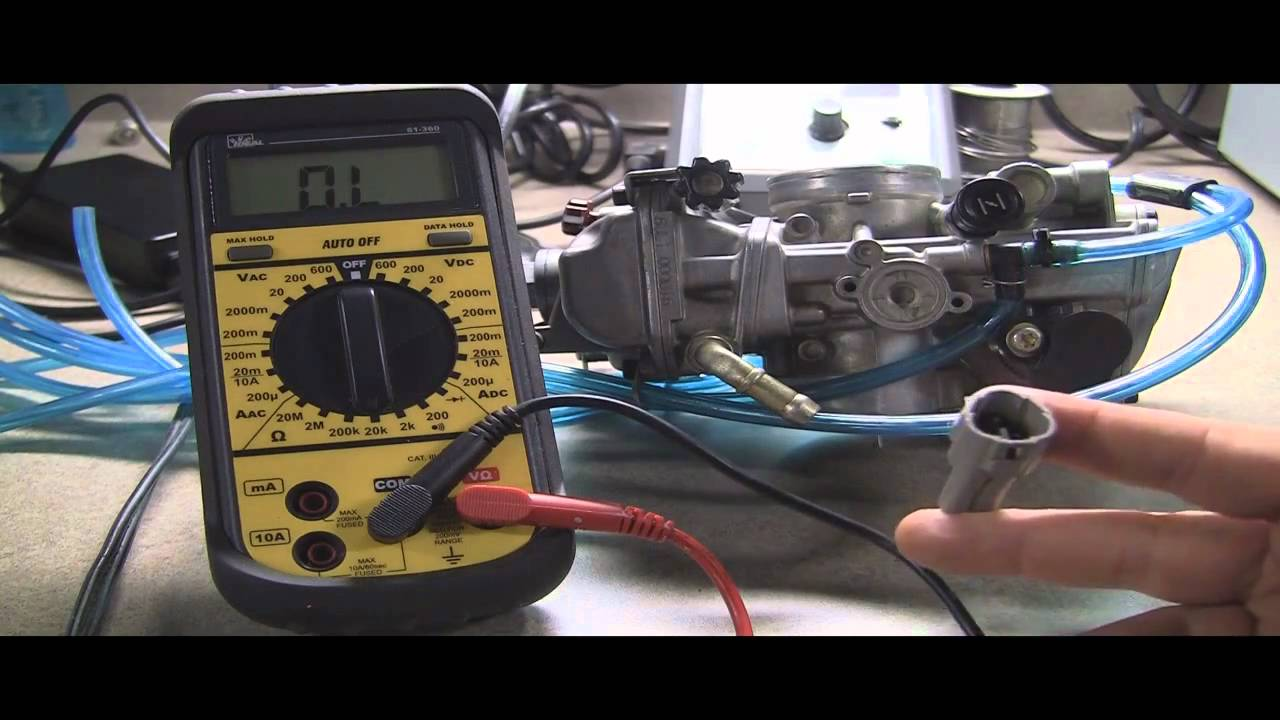 testing motorcycle throttle position sensor: checking ohms with a  multimeter - youtube