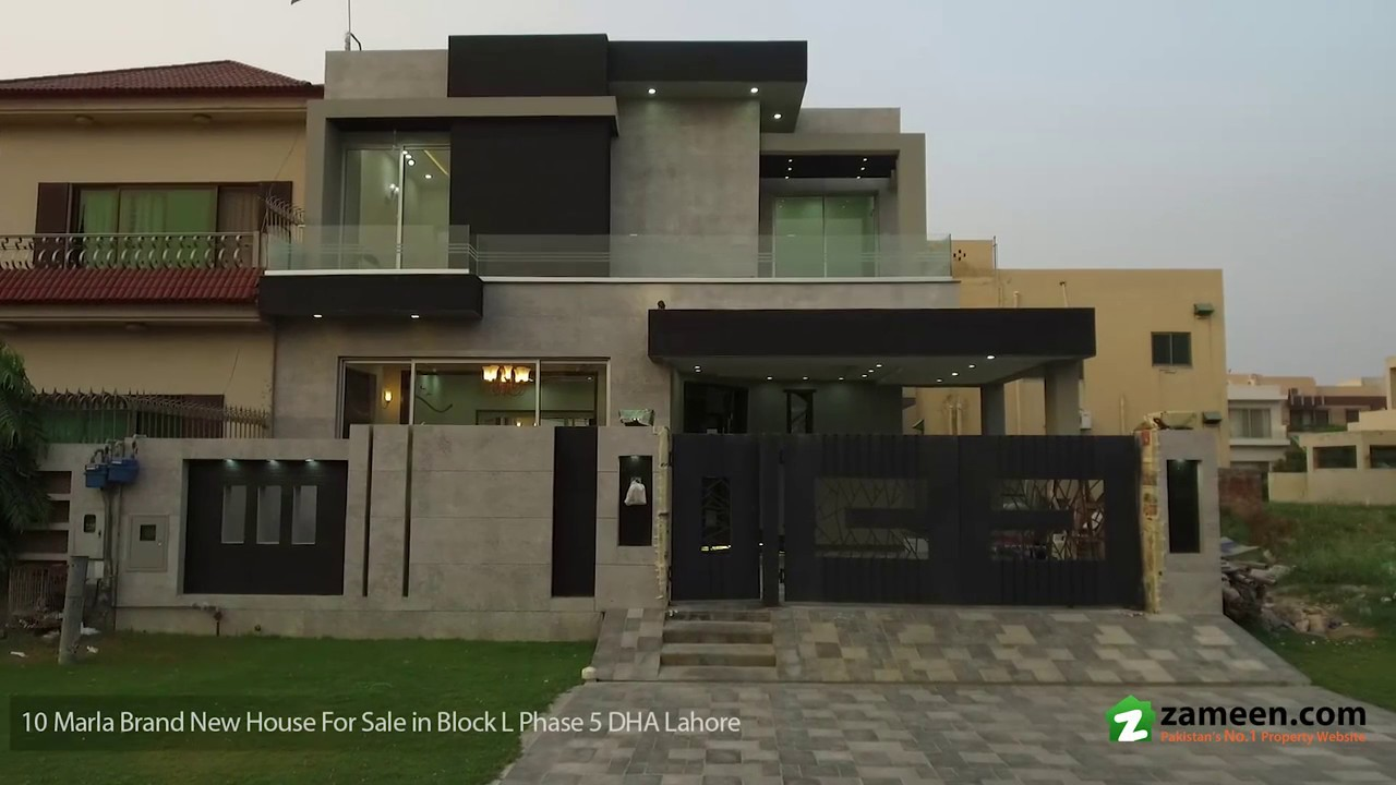 10 Marla Beautiful Located Brand New House Is Available For Sale In Block L Phase 5 Dha Lahore