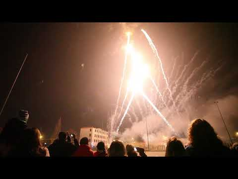 Niepodległościowy pokaz sztucznych ogni w Pabianicach