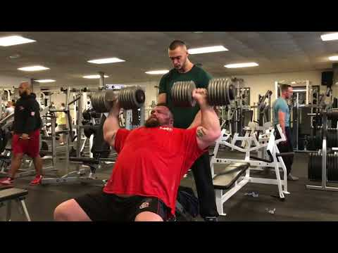 70kg吧_Eddie Hall (THE BEAST) 70kg Dumbbell Shoulder Press for 25 Reps - YouTube