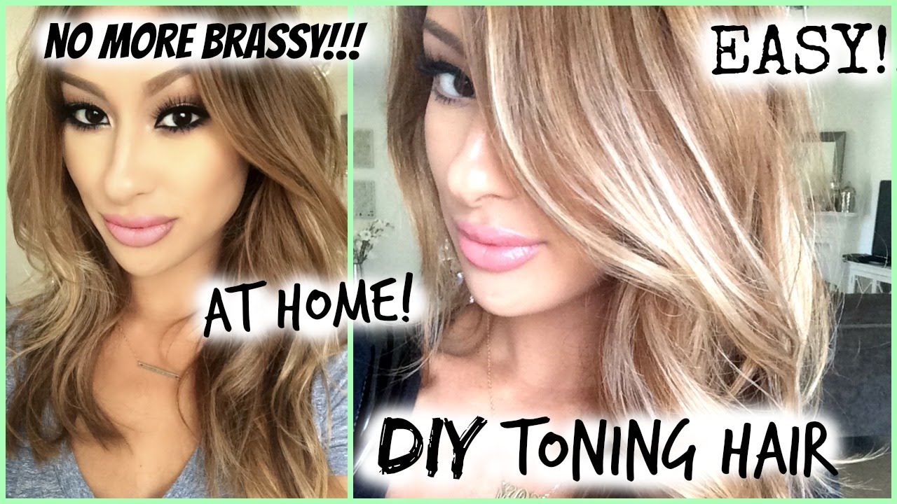How To Diy Toned Hair Roots Easy My Hair Color Youtube
