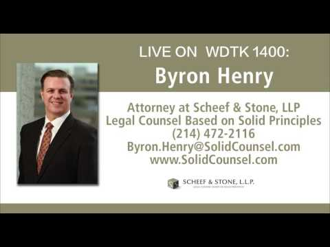 Scheef & Stone Attorney Byron Henry live on Detroit radio