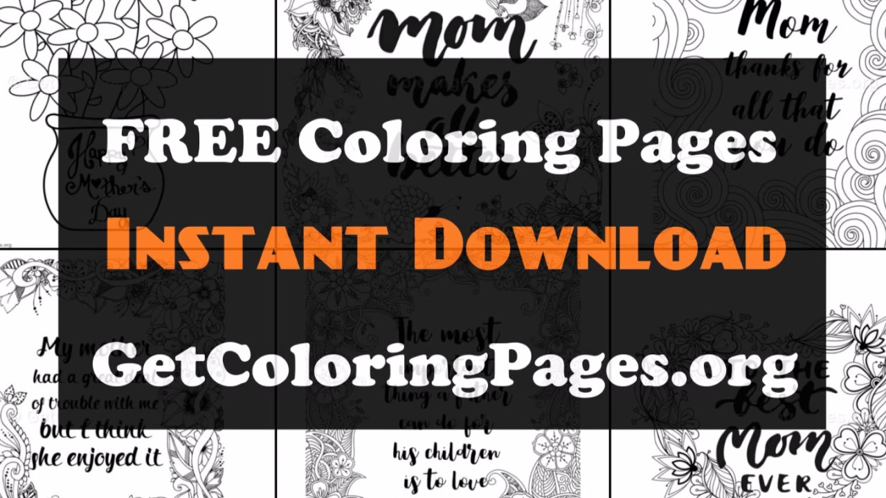 Mom and daughter coloring pages - YouTube