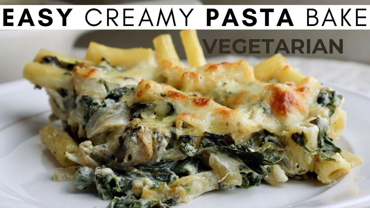 EASY and CREAMY vegetarian pasta bake from scratch Homemade Vegetarian Recipe