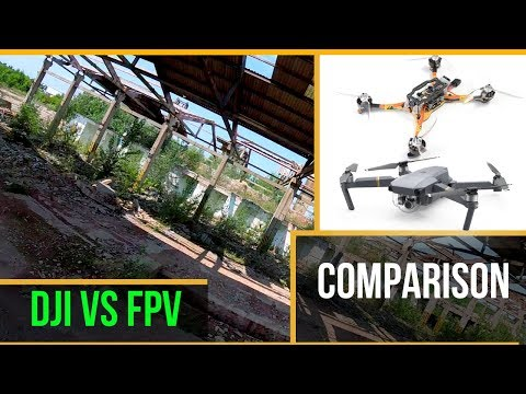 dji-mavic-vs-fpv-drone-//-exploring-abandoned-factory