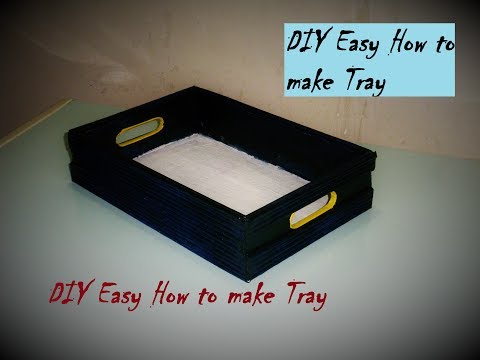 DIY Easy   How to make Tray / Organizer   Made with Cardboard  