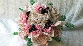 Свадебный букет из бисера. Часть 2. Орхидея из бисера. // Wedding bouquet beaded