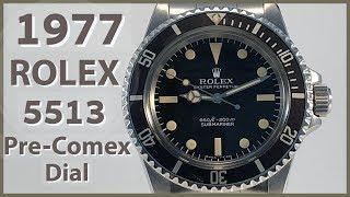 Vintage Rolex 5513 Submariner Pre-Comex Dial 1977
