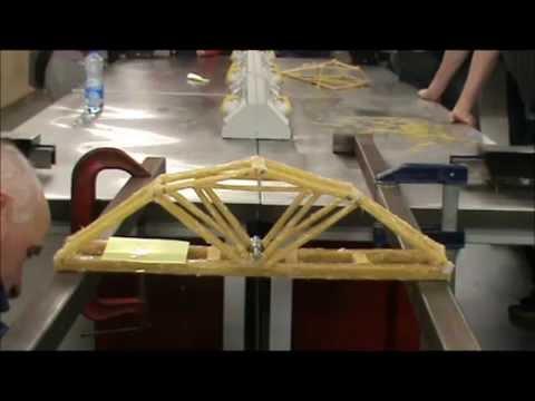 2014 NUI Galway Spaghetti Bridge 20kg Testing