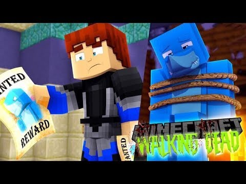 Minecraft THE WALKING DEAD - SCUBA STEVE TRIES TO SAVE SHARKY